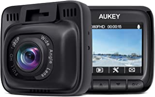 AUKEY Dash Cam Mini FHD 1080P Car Camera with Supercapacitor and 170 Degrees Wide Angle Dash Camera for Cars with 2 inches LCD, G-Sensor, Motion Detection and Dual-Port Car Charger,