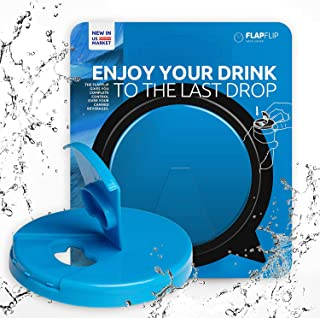 FlapFlip Premium Soda Can Lids – Reusable Beer & Pop Can Covers - PREMIUM Product - Fits on most of 12 oz - 16 oz Can - A...