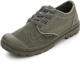 COOPCUP Zapatos de los hombres de la lona del dril de algodón con cordones ocasionales zapatos masculinos respirables prim...