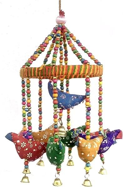 Rastogi Handicrafts Handmade Decorative Door Hanging Bell Bird Shandler For Home Decoration Hanging Ornament