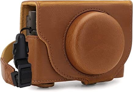 MegaGear Ever Ready Leather Camera Case compatible with Sony Cyber-sho...