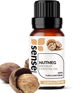 Nutmeg Essential Oil - Made in India - 100% Pure Extract Nutmeg Oil Therapeutic Grade (0.33 Fl Oz / 10 ml)