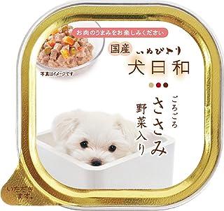 犬日和トレイささみ野菜入り ドッグフード 100gx24 (まとめ買い)