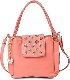 Butterflies Women's Handbag with Adjustable Strap for Women and Girls (Dark Peach) (BNS 0761DPCH)