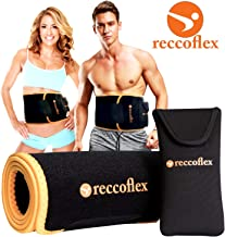 Waist Trainer Sweat Belt and Waist Trimmer for Women and Men | Stomach Wraps for Sauna Belt Effect | Mens Waist Trimmer Belt and Waist Bands for Intense and Effective Workouts