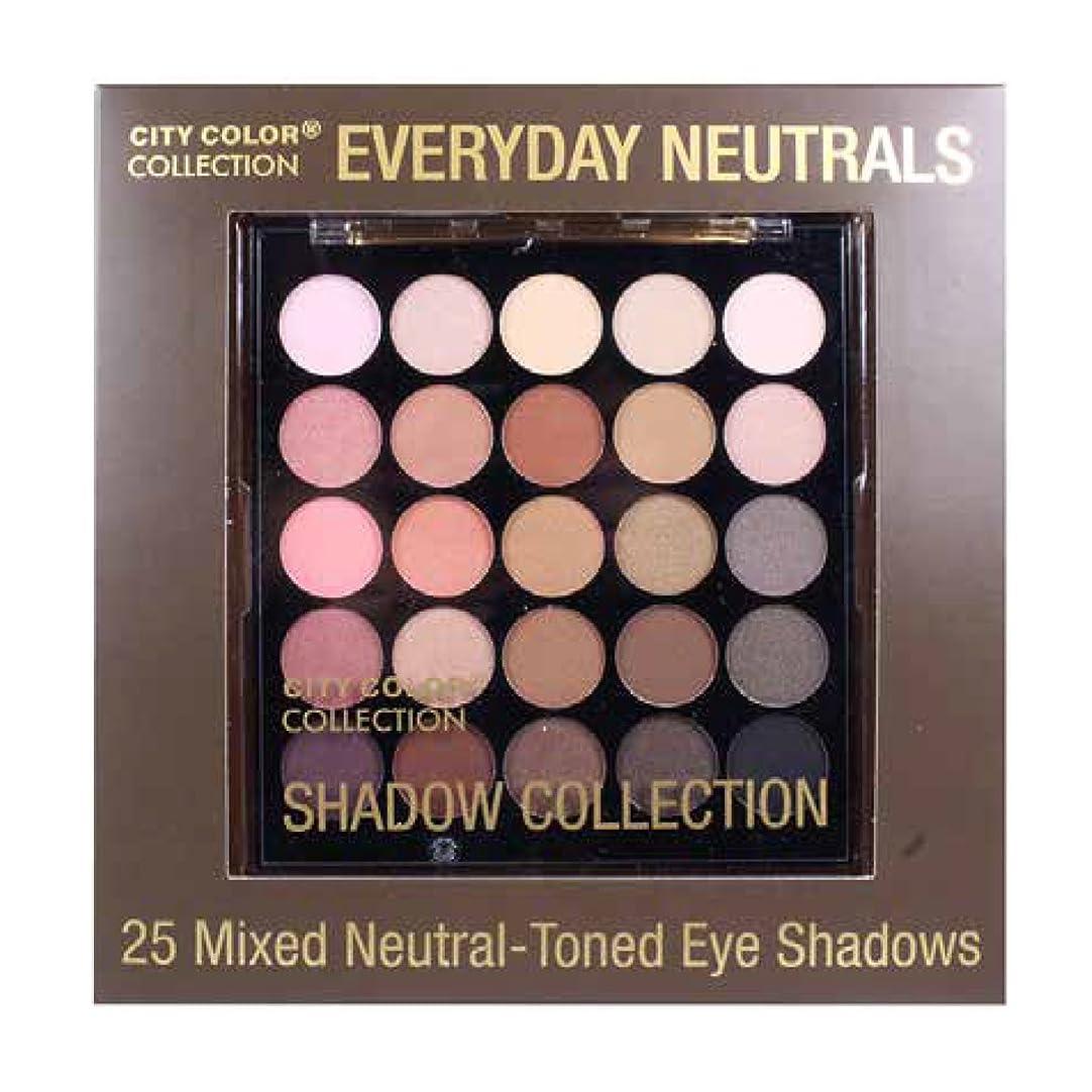 まもなくビット浅い(6 Pack) CITY COLOR Collection Everyday Neutrals Eye Shadow Palette (並行輸入品)