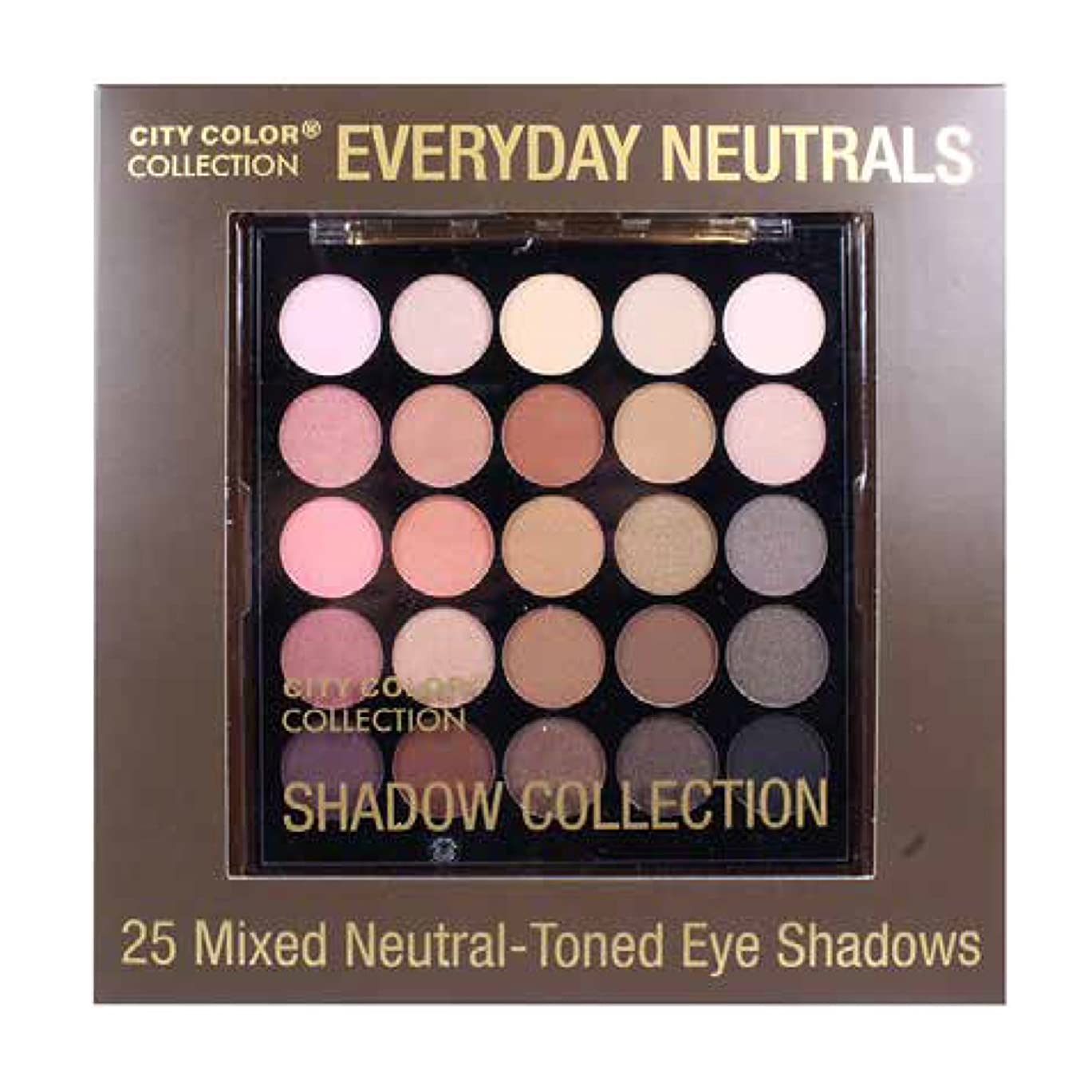 ヒョウ弱まる購入(3 Pack) CITY COLOR Collection Everyday Neutrals Eye Shadow Palette (並行輸入品)