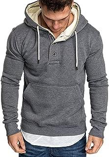 Uni Clau Fashion Men Workout Athletic Hoodies Sport Sweatshirt Fleece Pullover Gym Clothes
