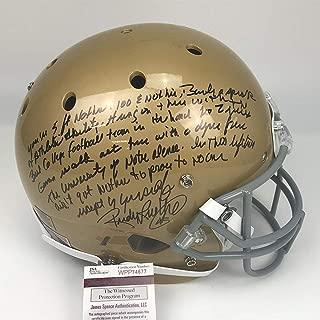 Autographed/Signed Rudy Ruettiger Full Speech Notre Dame Irish Full Size FS F/S Replica College Football Helmet JSA COA