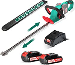 Sponsored Ad – Hedge Trimmers, HYCHIKA 36V Cordless Hedge Trimmer, 60cm Dual Action Blades Shock Absorption, 26mm Tooth Op...
