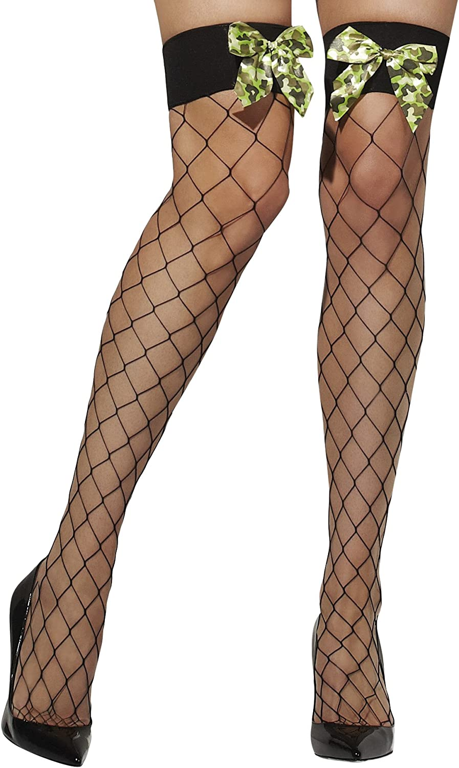 Fever Women's Diamond Net Hold-Ups with Box Display Camo Popular products In online shop Bows