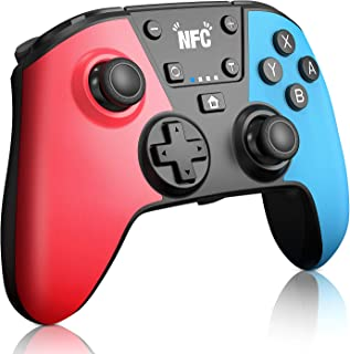 [newest version] wireless controller for switch with amiibo(nfc)/macro button, kutime professional controller remote gamepad joypad joystick for switch console, turbo, double vibration and gyro axis