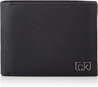 Calvin Klein Signature Pebble 10CC With Coin Wallet, Black, 12 cm, K50K505305
