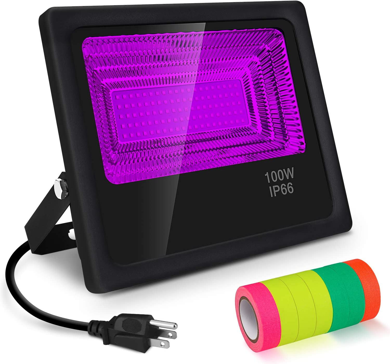 UV Max 50% OFF LED Black Light 100W Floodlight SALENEW very popular F Blacklight 7 Rolls