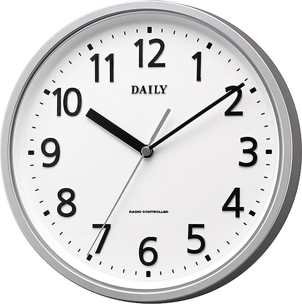 命令的同様の確認してくださいリズム時計 掛け時計 電波 アナログ 小さい デイリーMY34 見やすい ユニバーサル 文字採用 凸文字板 オフィス タイプ 銀色 DAILY (デイリー) 4MYA34DN19