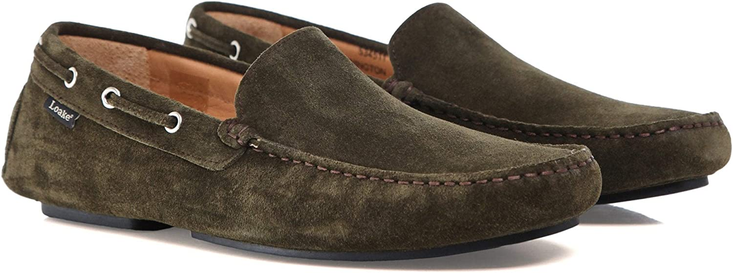 Loake Men's Suede Donnington Driving shoes Green