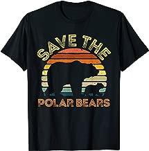 Save Polar Bears Shirt Kids Animal Vintage Retro Gift Tee