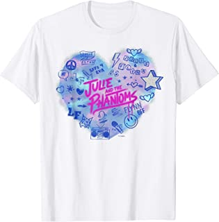 Julie And The Phantoms Airbrush Heart Logo T-Shirt