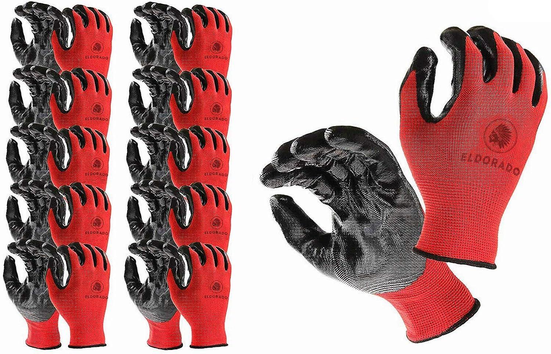 Eldorado Multipurpose Selling Work Gloves supreme with Grip Colo Coated Nitrile