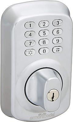 Smartphone Managed Keyless Deadbolt Lock/Wireless Smartlock/Airbnb/Satin Nickel by Smartcode