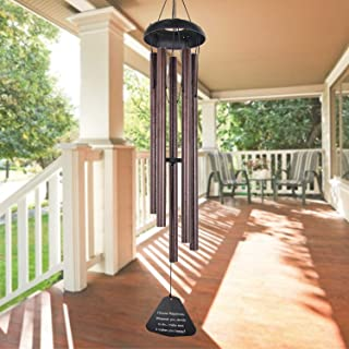 """Large Wind Chimes Outdoor,36"""" Amazing Grace Wind Chimes Large with 5 Metal Tubes Tuned Deep Tone Melody,Memorial Wind Chim..."""