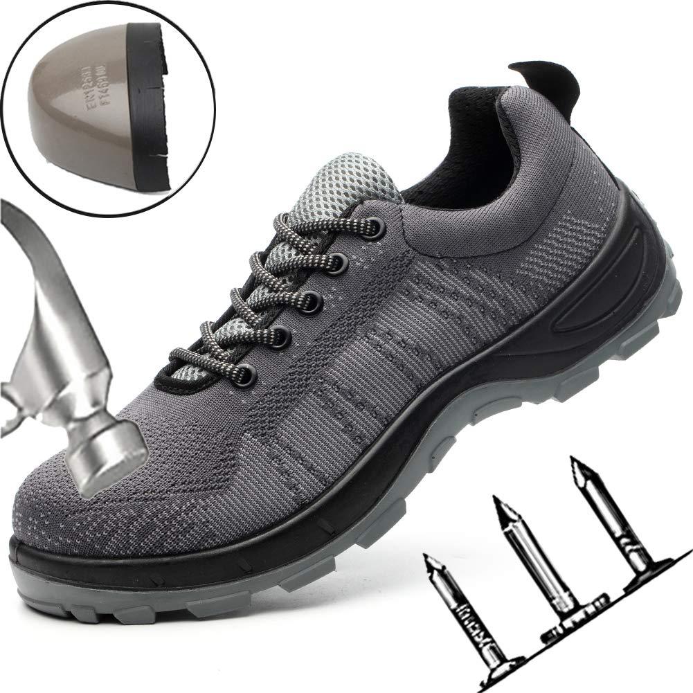 SHYTX Dropshipping Zapatos Indómibles Ryder Zapatos De Acero para Hombre Y Mujer Botas De Seguridad De Aire A Prueba De Perforaciones Zapatillas De Trabajo Zapatos Transpirables 35-46,Gris,36: Amazon.es: Hogar