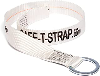 Safe-T-Strap Premium 4-Foot Cross Arm Strap with Large D-Ring and Pass Thru Loop Ends Fall Arrest Fall Protection Safety Harness Lanyard Tie Down Concrete Anchors