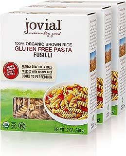 Jovial 100% Organic Gluten Free Brown Rice Pasta, Fusilli, 4 Count