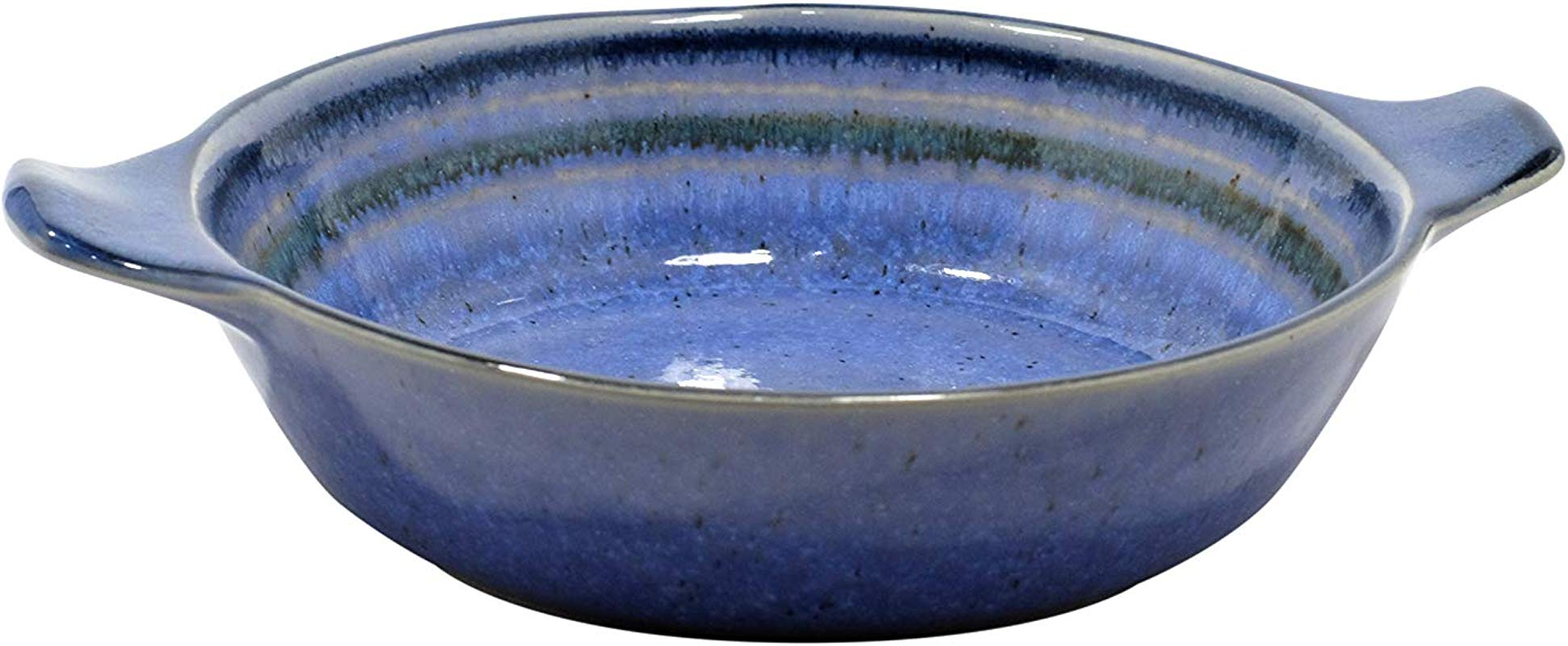 Casafina Sausalito Collection Stoneware Ceramic Individual Gratin 9 5 Blue