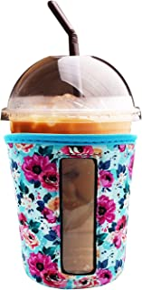 YUESUO Reusable Iced Coffee Cup Insulator Sleeve for Cold Beverages and Neoprene Holder for Starbucks Coffee, McDonalds, D...