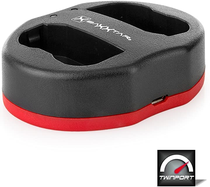 Baxxtar USB Dual Cargador Twin Port 1825 para la batería Nikon EN-EL15 EN-EL15a EN-EL15b