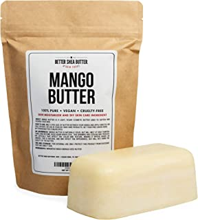 100% Pure Mango Butter - Can Substitute Shea Butter in Soap and Lotion Recipes - Moisturizing, Scent-free, Hexane-free - 16 oz by Better Shea Butter