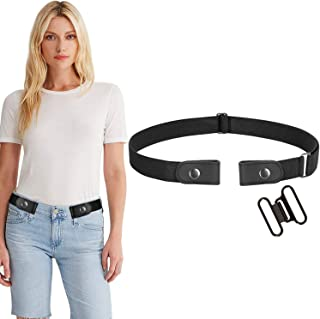 Buckle-Free Women No Buckle Invisible Fabric Stretch Belt For Jeans