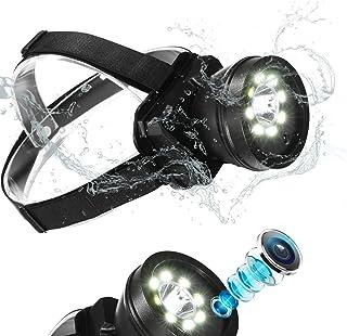 防水ヘッドランプ型ビデオカメラ 長時間録画対応1080p ハンズフリー ヘッドライト型ビデオカメラ 登山 釣り キャンプ アウトドア スポーツ ウェアラブルカメラ ヘッドマウント ビデオカメラ 7センチUSB充電式 ヘルメット型カメラ 日本語説...