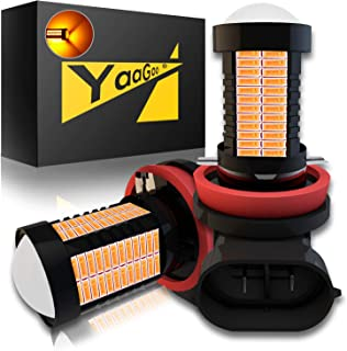 YaaGoo H8 H9 H11 Yellow LED DRL Driving Fog Light,Replacement of Halogen,360 degree super bright,106pcs LED bulbs