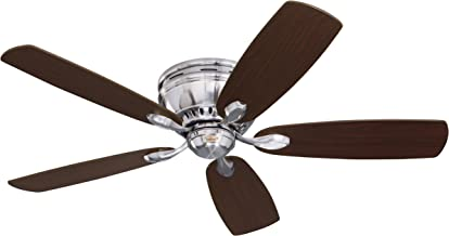 Emerson Ceiling Fans CF905BS Prima Snugger 52-Inch Low Profile Ceiling Fan With Wall Control, Light Kit Adaptable, Brushed Steel Finish