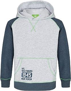 VfL Wolfsburg 1945 Hoodie KIDS Mein Verein Farbe: grau Größe 116 - 164 116