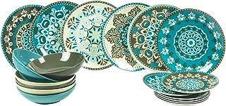 Villa D'Este Home Tivoli 2190652 Cala Jondal Service de table 18 pièces, porcelaine + grès