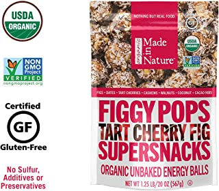 Made In Nature Organic Tart Cherry Figgy Pops, 20oz - Non-GMO Unbaked Protein Balls
