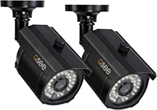 Q-See QM1201B-2 900TV Lines of Resolution Analog Bullet Security Camera 2-Pack with 100' Night Vision(Black)