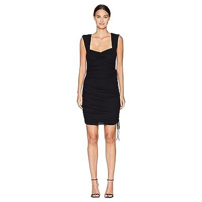 Nicole Miller Ruched Dress (Black) Women