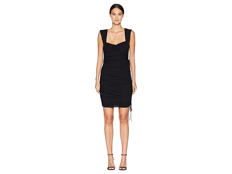 Nicole Miller Ruched Dress (Black) Women