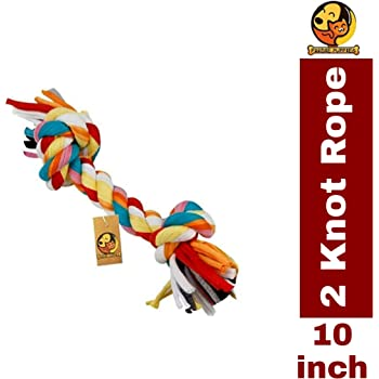 Foodie Puppies Durable Dog Chew Rope Toy for Small to Medium Dogs - Interactive Teething Rope Toy to Play with (Color May Vary)