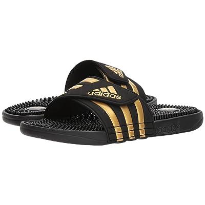 adidas adissage (Black/Gold/Black) Shoes