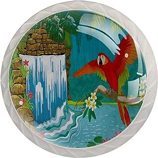 Poignées de Tiroir pour armoire,tiroir,coffre,commode,etc., cascade d'oiseaux