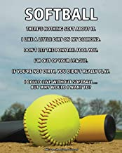 """Posters and Prints by Magnetic Impressions Unframed Softball Sky 8"""" x 10"""" Sport Poster Print"""