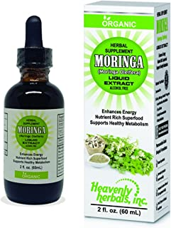 Organic Moringa Oleifera Liquid Leaf Extract Drops - Enhances Energy and Metabolism Levels - Organic Nutrient Rich Superfo...