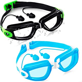 Parboom Swimming Goggles 2 Pack,Anti-Fog and UV...