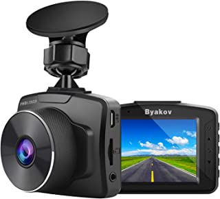 Byakov Upgraded Dash Cam 2 Inch LCD Screen 1080P Full HD Dash Camera for Cars with G-Sensor, WDR, Loop Recording, 170°Wide Angle, Night Vision, Motion Detection, Support 128GB Max,