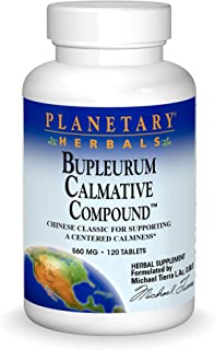 Planetary Herbals Bupleurum Calmative Compound 560 mg Chinese Classic for Supporting a Centered Calmness - 120 Tablets